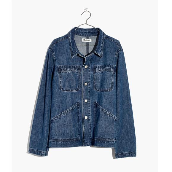 Madewell Denim Patch Pocket Chore Coat Size XXS